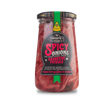 Grate Goods Grate Goods Spicy Onions Barbecue Pickles 325 Gramm