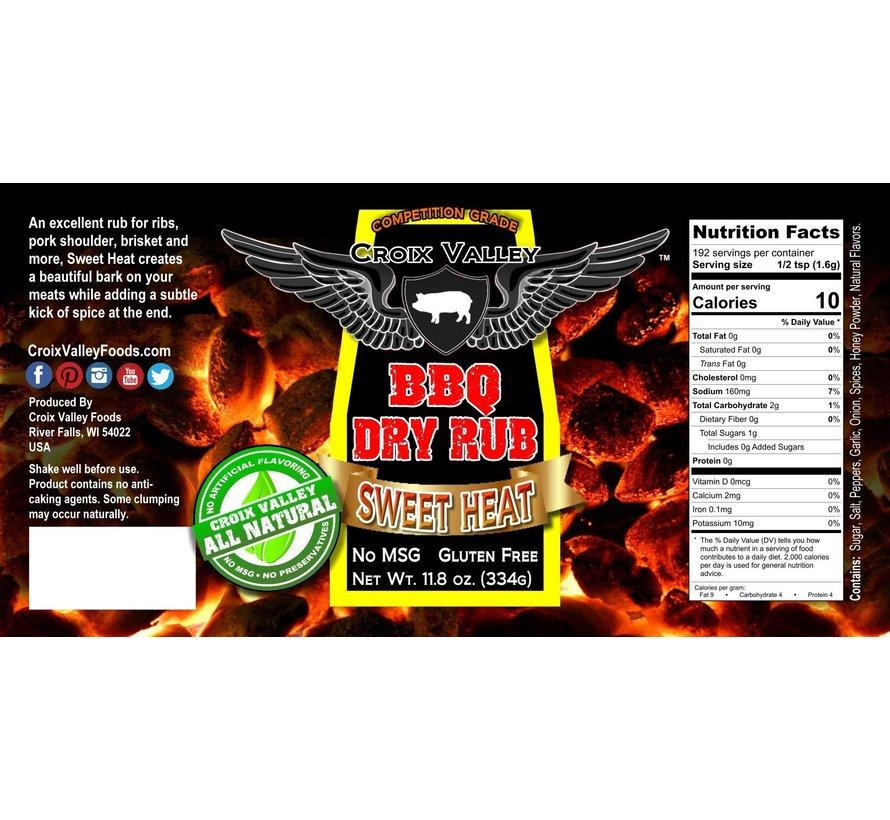 Croix Valley Sweet Heat BBQ Dry Rub 11.8 oz