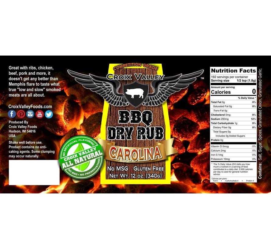 Croix Valley Carolina BBQ Dry Rub 12 oz