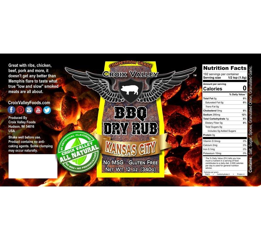 Croix Valley Kansas City BBQ Dry Rub 12 oz