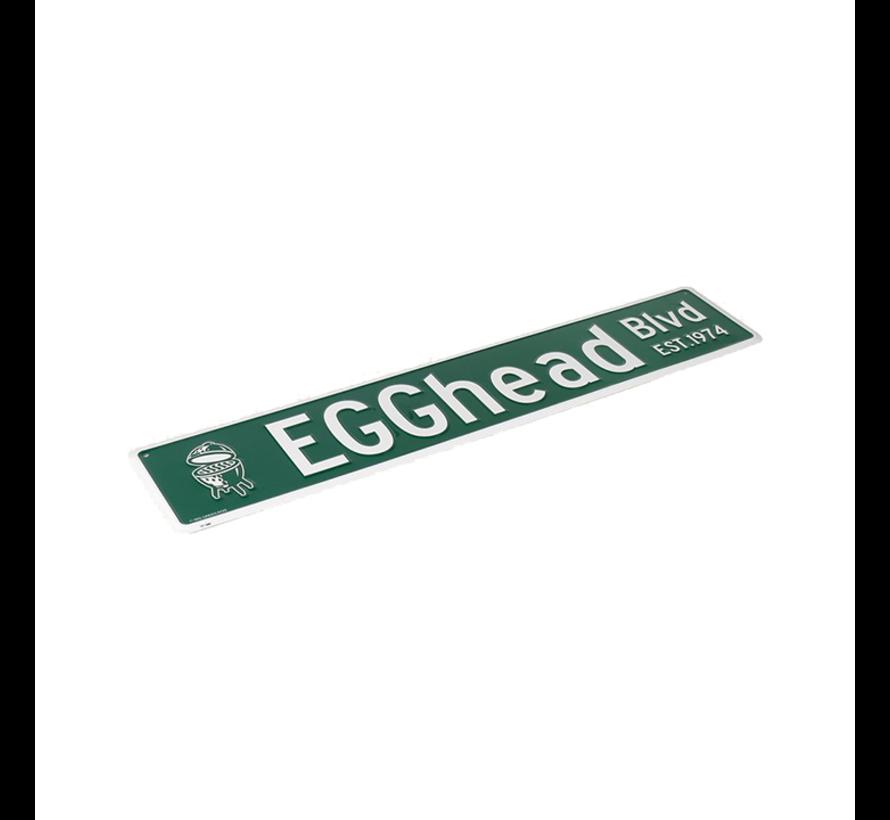 Big Green Egg Straatnaambord Egghead BLVD