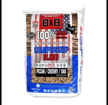 B&B B&B Championship Blend Pecan / Cherry / Oak Wood Pellets 18 kg