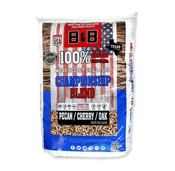 B&B B&B Championship Blend Pecan / Cherry / Oak Wood Pellets 9 kg