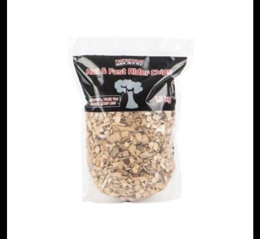 Vuur&Rook Hot&Fast Alder Chips 1.5 kg