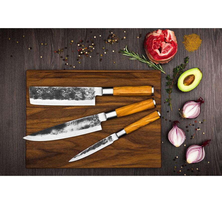 Olive Forged 3-Delig Messenset