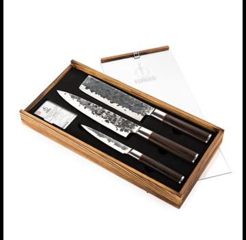 Forged Sebra geschmiedetes 3-teiliges Messerset