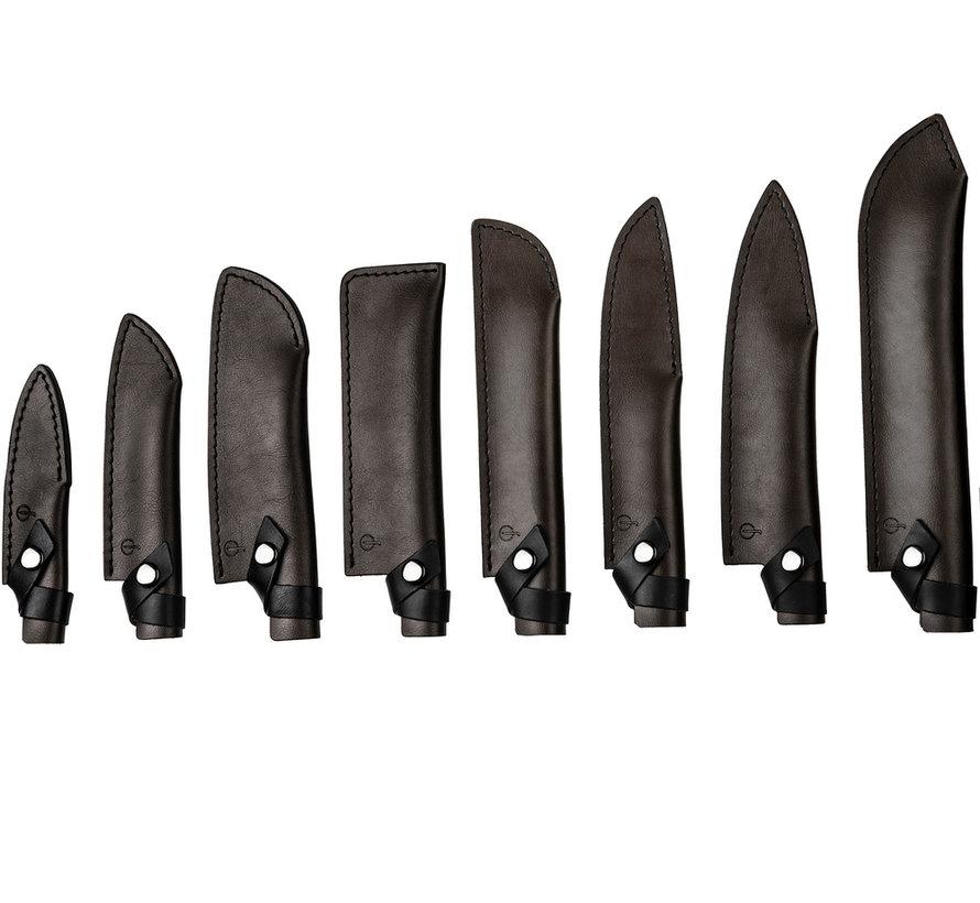 Leather Forged Leren Hoes Santokumes 14cm