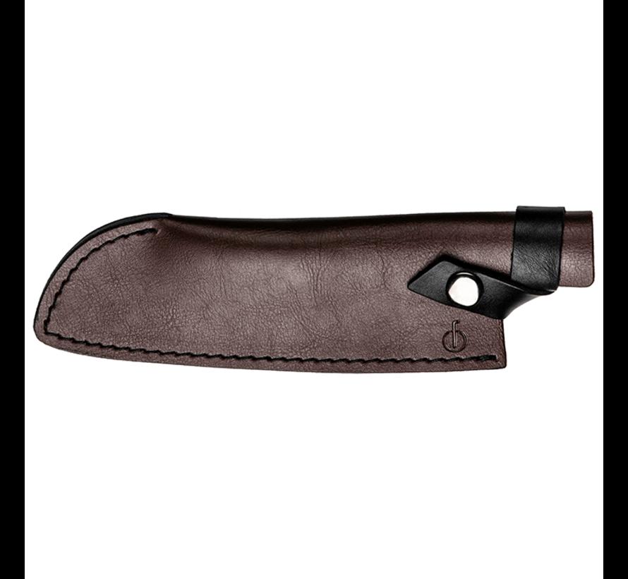 Leather Forged Leren Hoes Santokumes 18cm