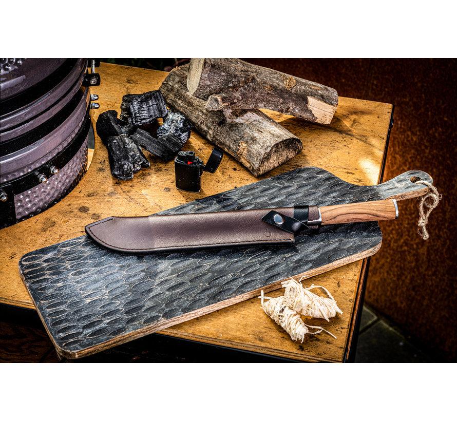Leather Forged Leren Hoes Slagersmes