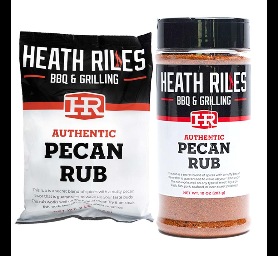 Heath Riles BBQ Pecan Rub Shaker 16 oz + Refill Bag 2 lb Combo