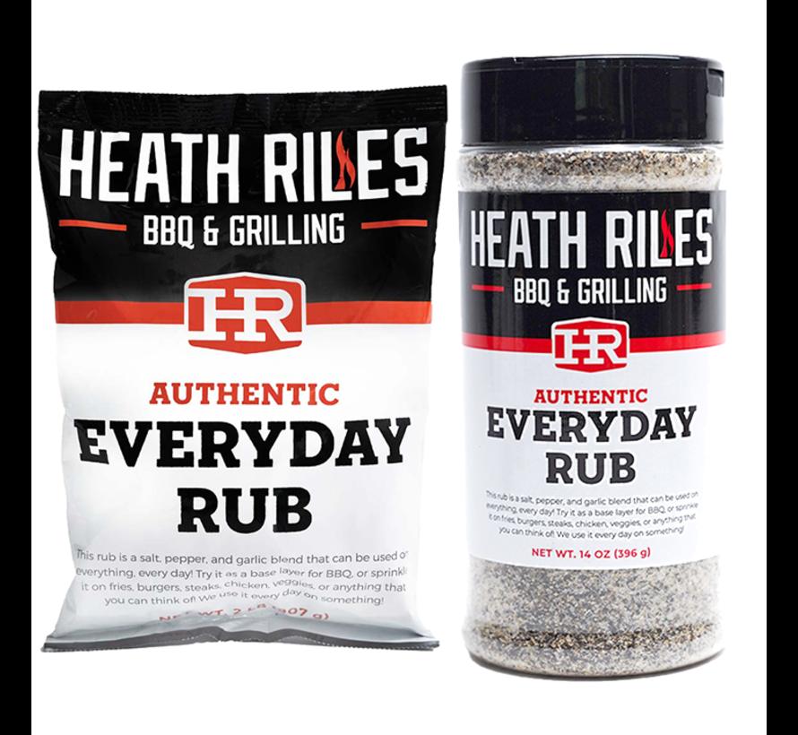 Heath Riles BBQ Everyday Rub Shaker 16 oz + Refill Bag 2 lb Combo