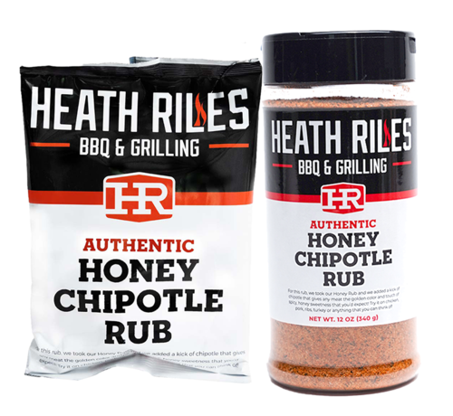 Heath Riles Heath Riles Honey Chipotle BBQ Rub Shaker 16 oz + Refill Bag 2 lb Combo