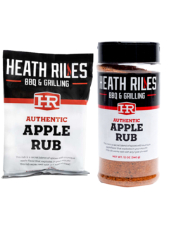 Heath Riles Heath Riles Apple BBQ Rub Shaker 16 oz + Refill Bag 2 lb Combo