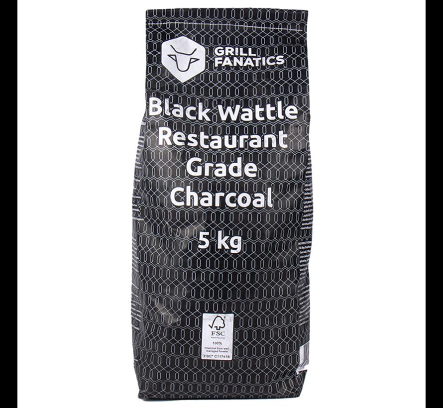 Grill Fanatics Restaurant Grade Charcoal Black Wattle / Aanmaakblokjes Deal 5 kg
