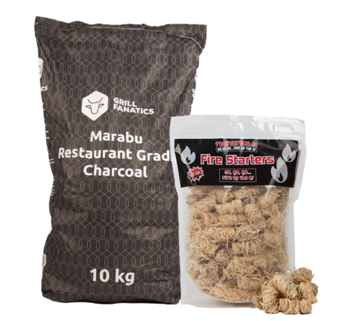 Grill Fanatics Grill Fanatics Restaurant Grade Marabu Houtskool / Wokkels Deal 10 kg