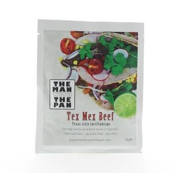 The Man With The Man Sorry We Lost The Date...The Man With The Pan Spice Mix Tex Mex Beef Sachet 30 gram