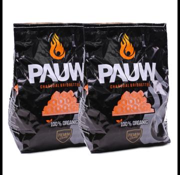 Pauw Pauw Premium Houtskool Briketten 2 x 2.5 kg Deal