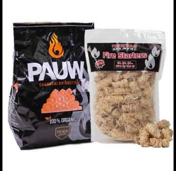 Pauw Pauw Premium Holzkohlebriketts Tuben 2,5 kg / Wokkels Deal