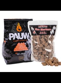 Pauw Pauw Premium Houtskool Briketten Tubes 2.5 kg / Aanmaakblokjes Deal