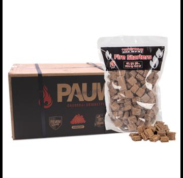 Pauw Pauw Premium Houtskool Briketten Tubes 10 kg / Aanmaakblokjes Deal