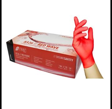 Nitras Nitras Nitril Handschoenen 100 stuks Large Rood