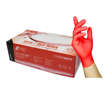 Nitras Nitras Nitrile Gloves 100 pieces Large Red