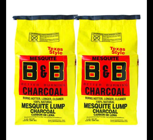 B&B B&B Mesquite Lump Charcoal 2 x 3.6 kg Deal