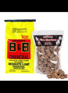 B&B B&B Mesquite Lump Charcoal / Aanmaakblokjes Deal 3.6 kg