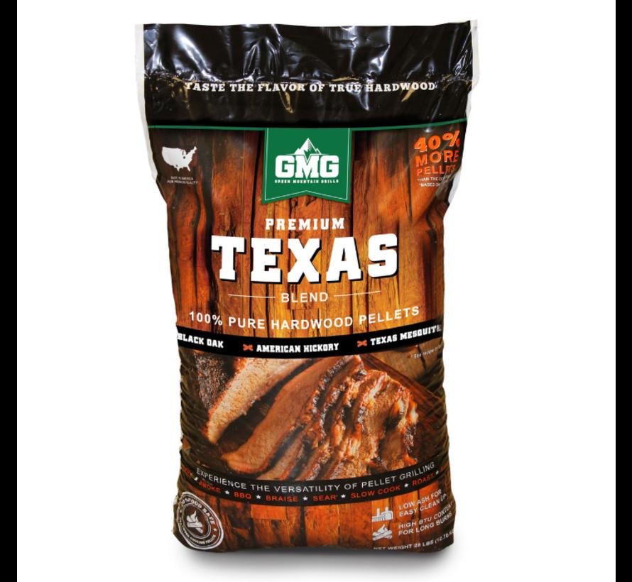 Green Mountain Premium Texas Blend Eik/Hickory/Mesquite BBQ Pellets 12.7 kilo