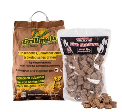 Grillmais Grillmais / Aanmaakblokjes Deal 3 kg