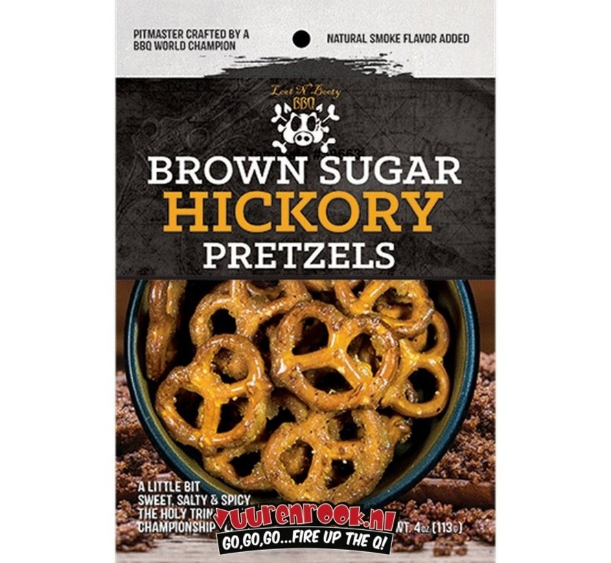 Sorry We Lost The Date... Loot N' Booty Brown Sugar Hickory BBQ Pretzels