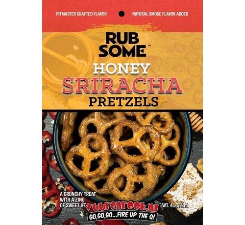 Sorry We Lost The Date... Rub Some Sweet Heat Honey Sriracha BBQ Pretzels