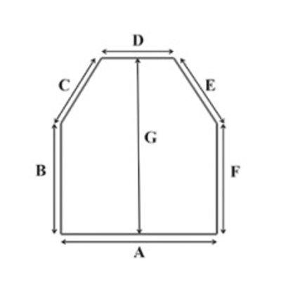 Koudschuim HR55 oplegmatras met 2 schuine hoeken