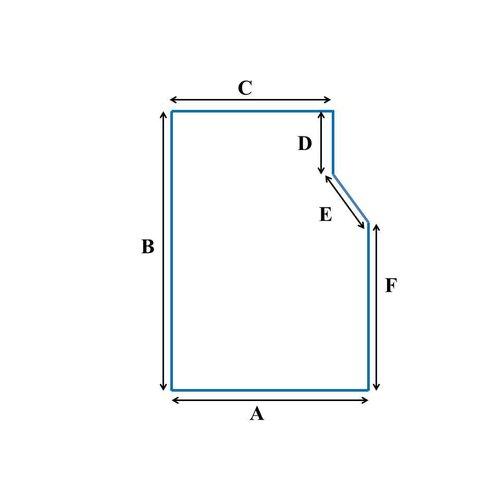 Matrassenmaker  tot 90cm koudschuim HR55 oplegmatras met 1 schuine hoek eruit