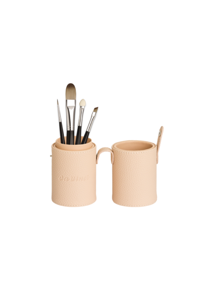 Davinci Brushholder cream filled with brushes 4810