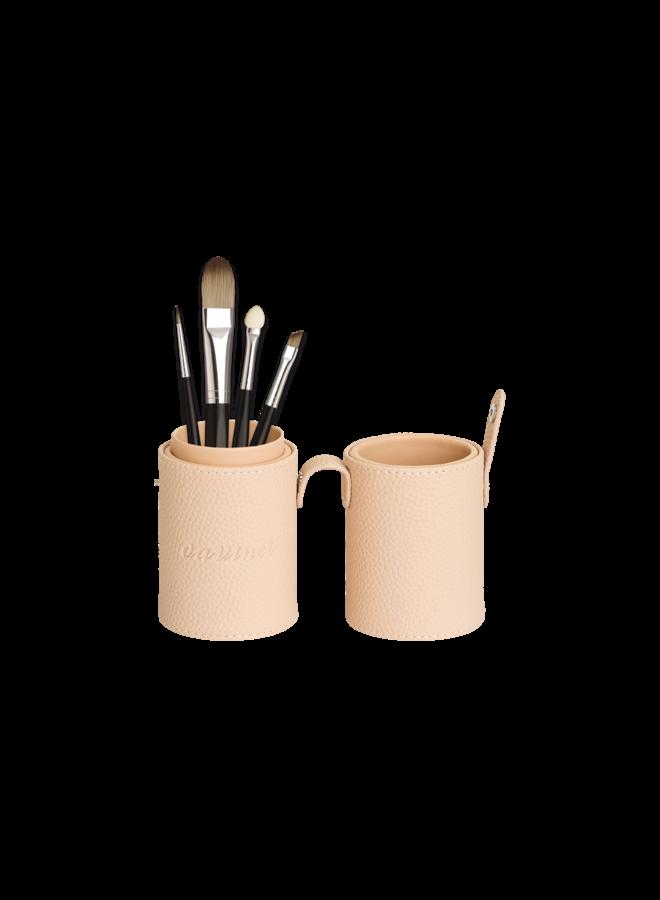 Style Davinci Brushholder cream filled with brushes 4810