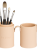 Style Davinci Brushholder cream filled with brushes 4810