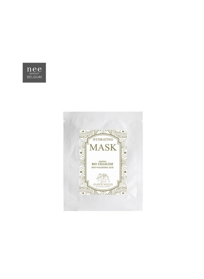 Hydrating vegetal bio cellulose mask with hyaluronic acid 5pcs
