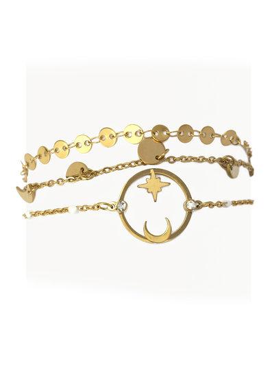 Anartxy juwelen Bracelet 3 together BPU045D