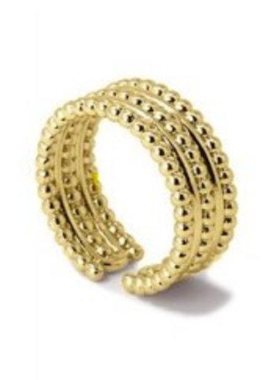 Anartxy juwelen RING three lines open ring balls detail AAN455D-16