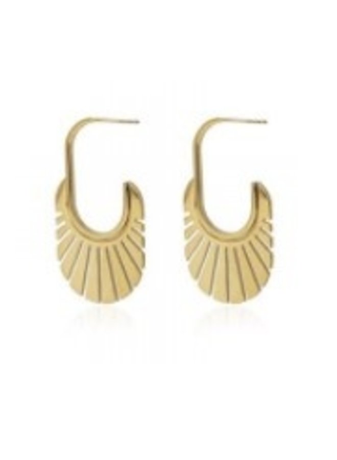 BPE307D Oval Earrings with cuts