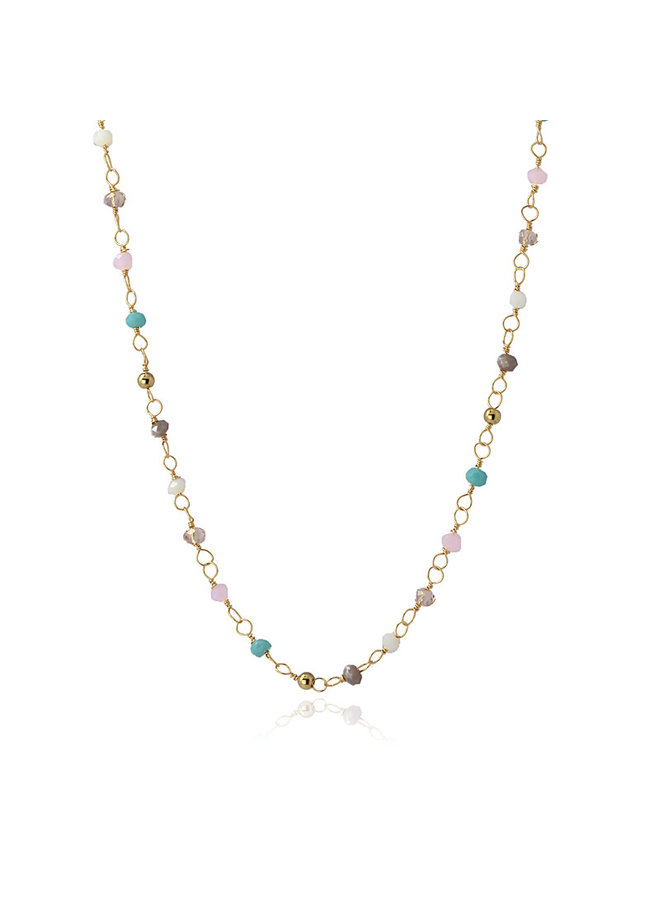 NECKLACE WITH MULTICOLOR CRISTAL STONE