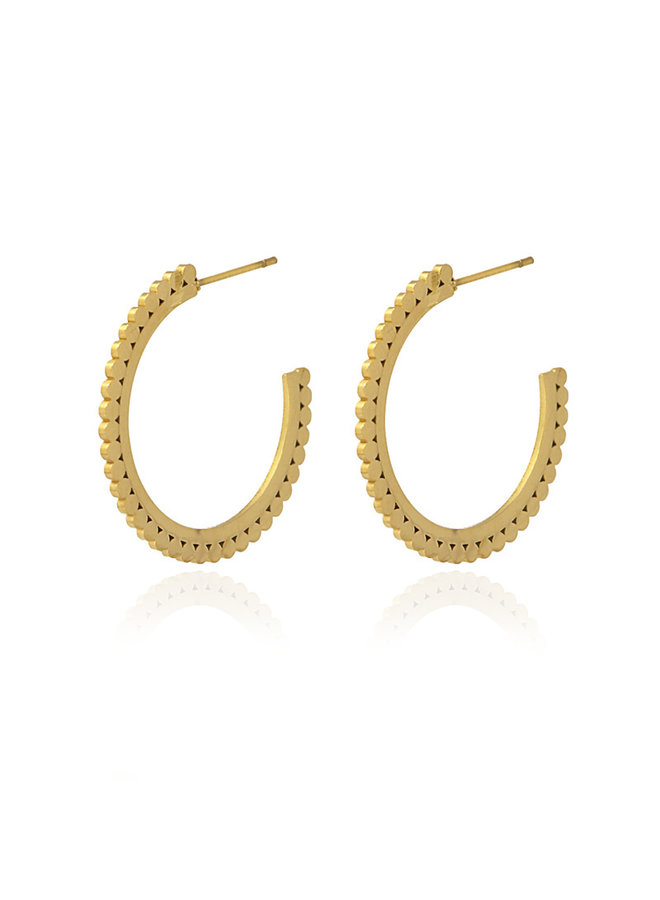 BPE539   ROUND DOTS SMALL SIZE EARING