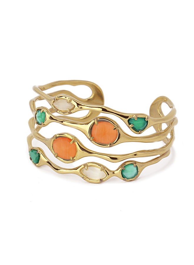 BRACELET WITH ORGANIC DESIGN WITH DIFFERENT COLORED STONES