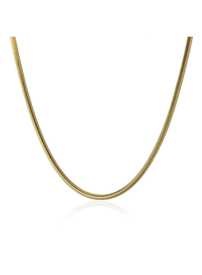 COA932D  SNAKE STYLE CHAIN NECKLACE