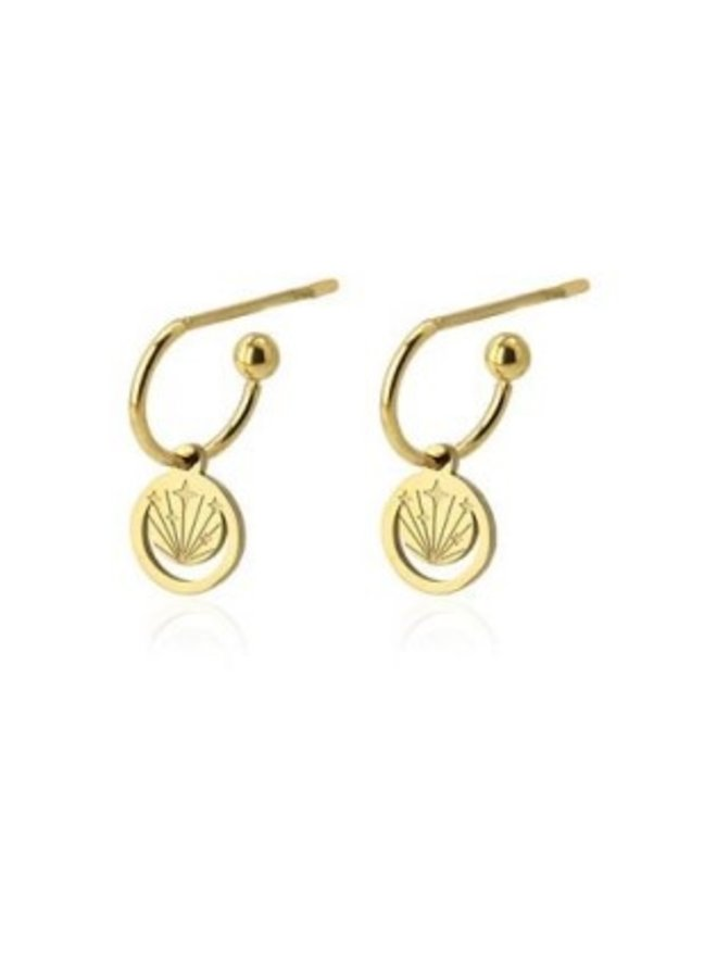 BPE250 EARRINGS WITH FLASH DETAILS AND MOON