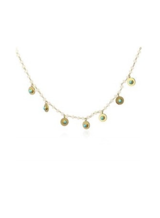 COA834 BALLS NECKLACE WITH MEDALS IN THE FORM OF CIRCLES