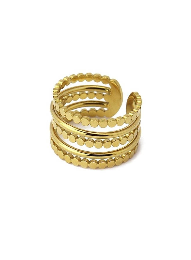 RING WITH CIRCURITO 5 LAYERS