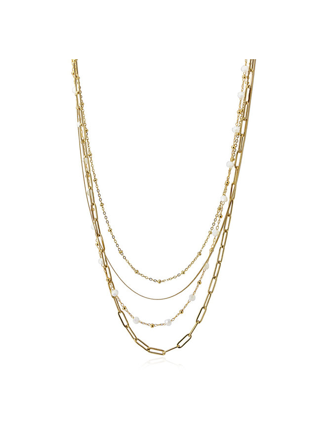 BCO045 Necklace 4 layers chain
