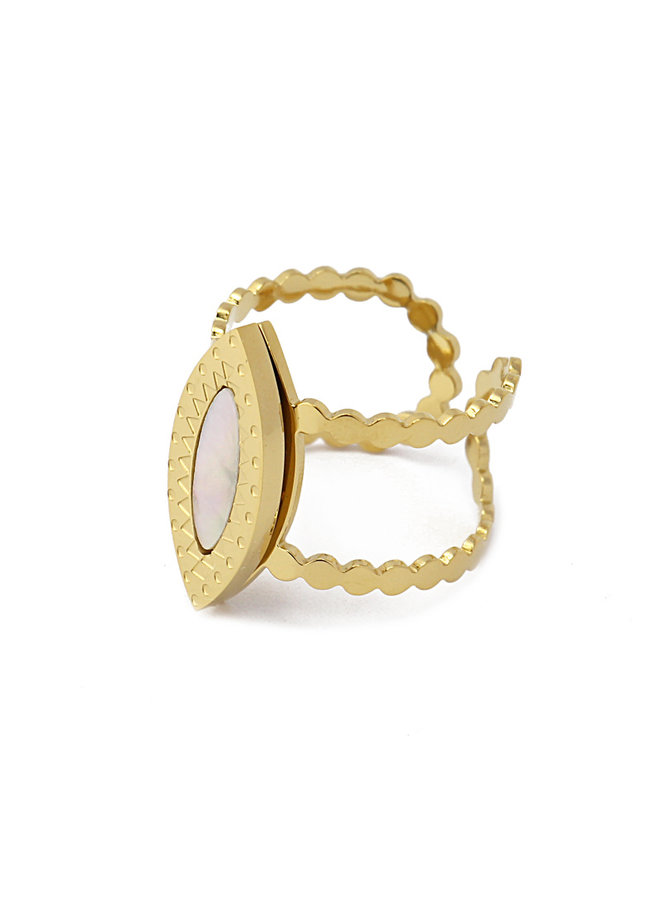 AAN551 RING WITH CIRCLE ELEMENTS AND TONE